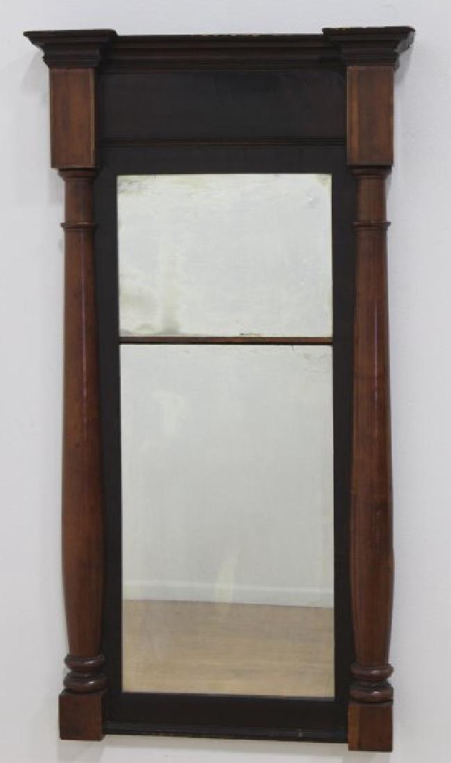 19th Century Mahogany Pier Mirror