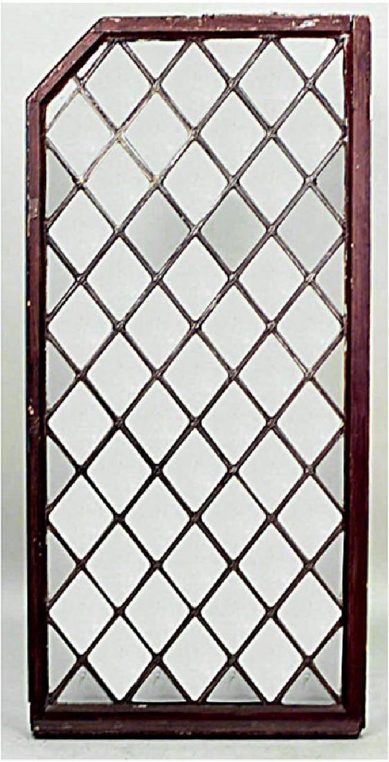 Pair American Victorian Leaded Glass Window Panels