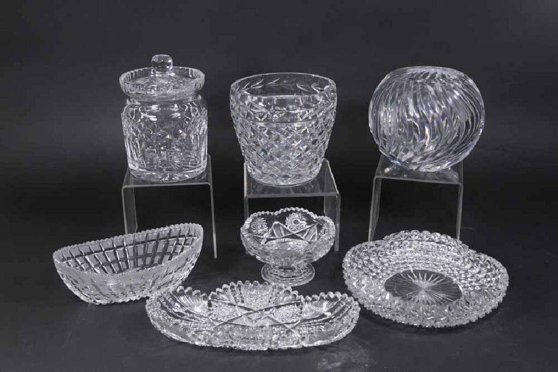 Group Lot Crystal Glass Pieces