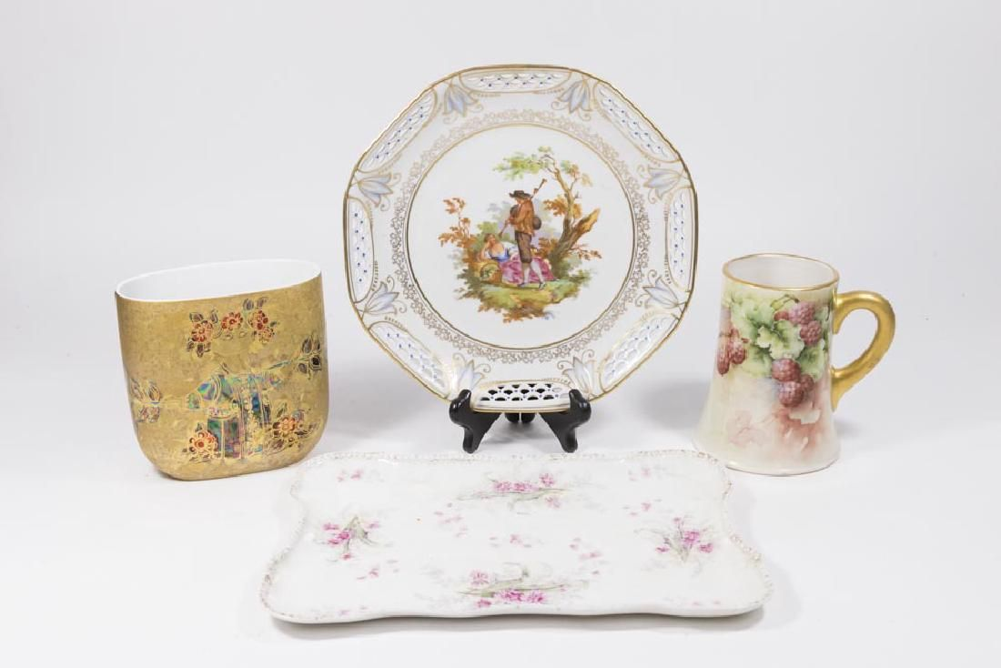 Group 4 European Porcelain Pieces