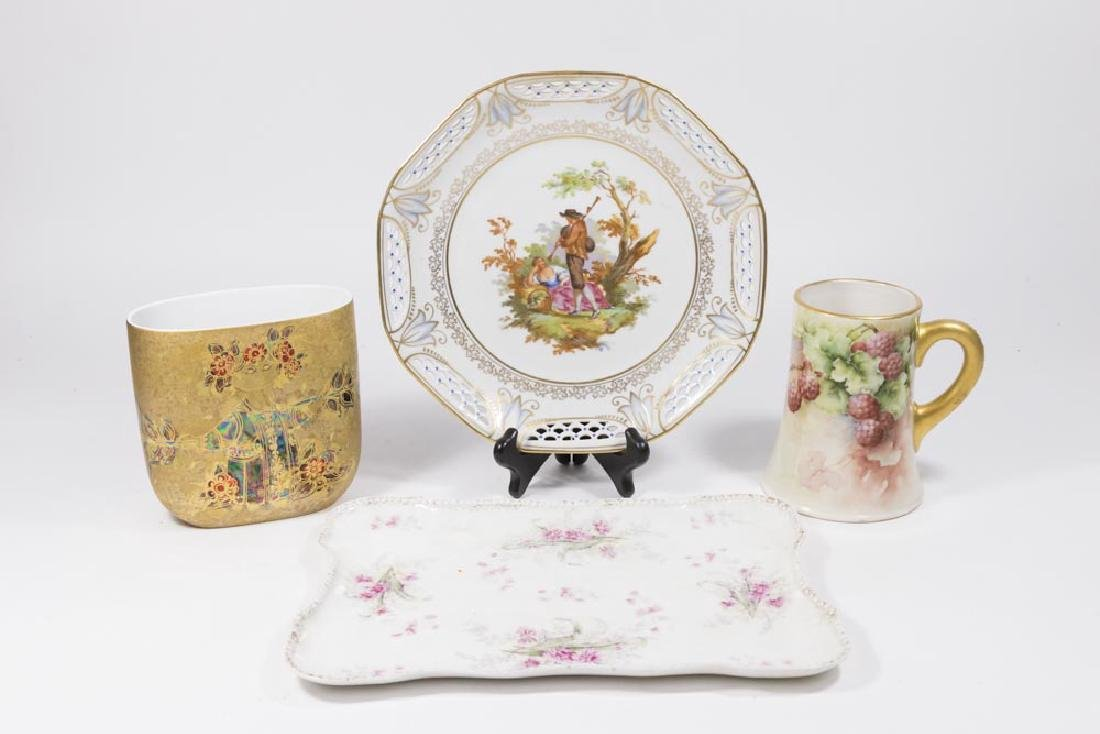 Group 4 European Porcelain Pieces