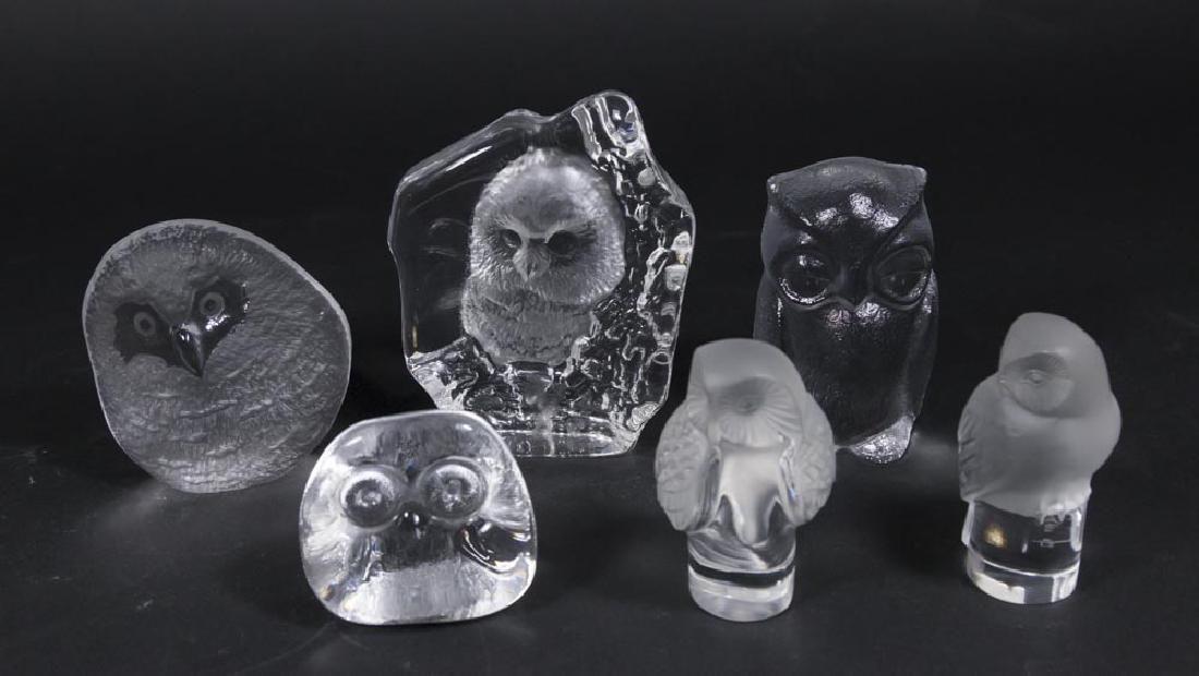 Lot 6 Glass Owls