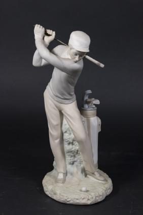 Lladro Figurine, The Golfer