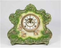 Unmarked Royal Bonn Ansonia Porcelain Mantel Clock