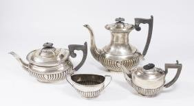 British Sterling Silver Coffee & Tea Set