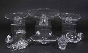 Group Lot 9 Glass Pieces