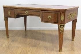 19thc Neoclassic Style Birdseye Maple Desk