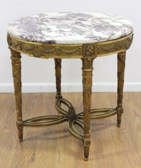 19th Century Louis XVI Style Giltwood Center Table