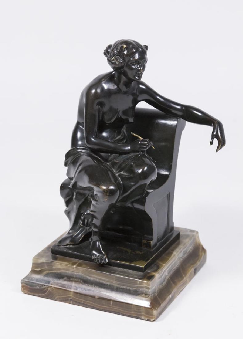 Theodore Ullmann Bronze Figure, Classical Female