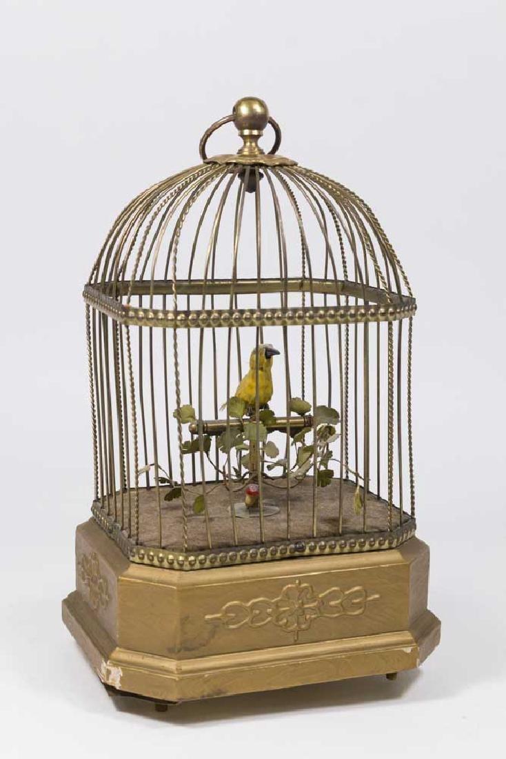 German Brass Birdcage Automaton