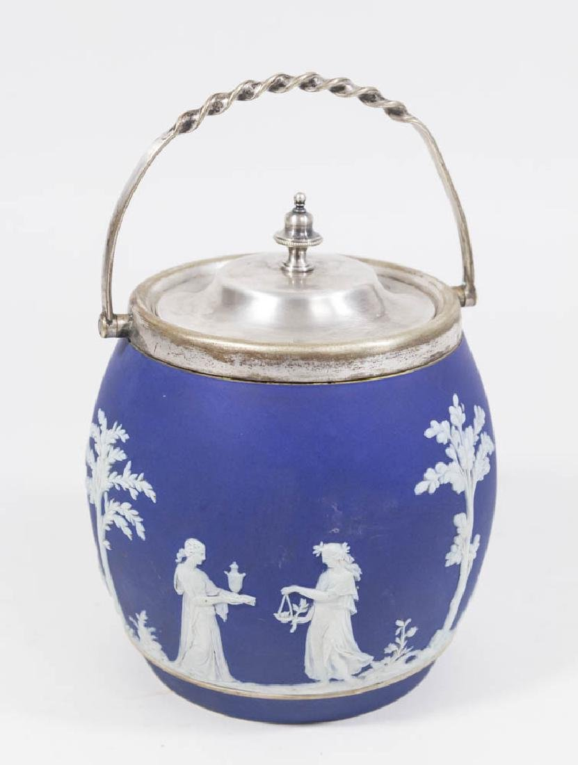 Wedgwood Biscuit Jar with Metal Lid