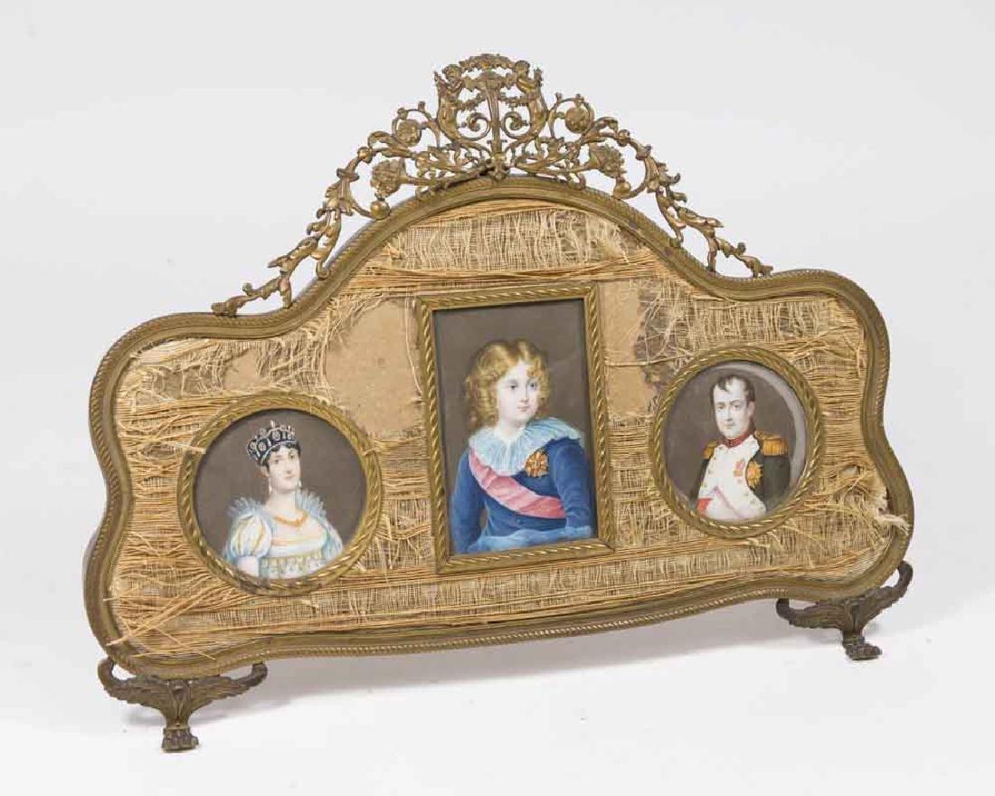 3-19th C. Miniature Handpainted Portraits