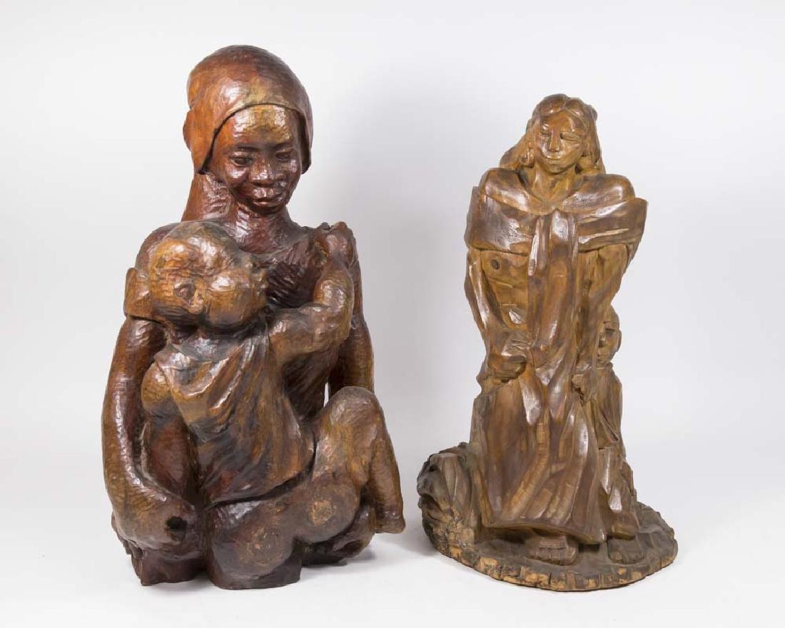 2 Wood Sculptures