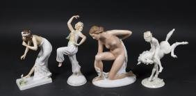 4 German Porcelain Figures