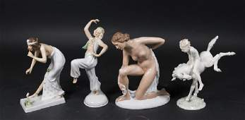 4 German Porcelain Figures