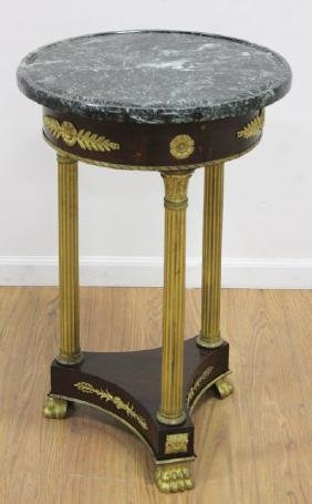 Empire Style Gilt Bronze Mounted Mahogany Pedestal