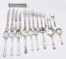 Lot Sterling Silver Forks, Spoons, & Knives
