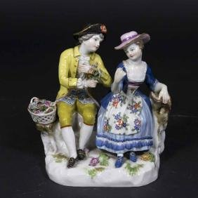 Meissen Grouping, Courting Couple