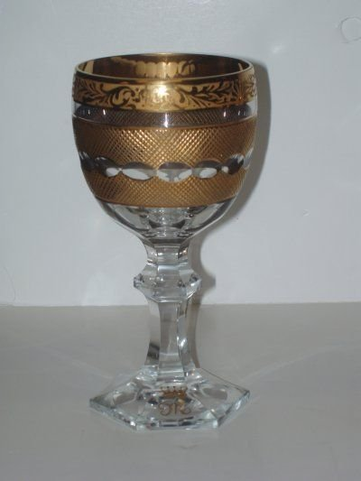 158: 36 PIECES OF GOLD ENCRUSTED CRYSTAL GOBLETS, BOWLS - 2