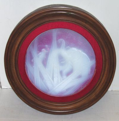 161: MULLER FRERES OPALESCENT GLASS PLAQUE