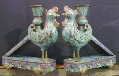 169: PAIR CLOISONNE BIRDS
