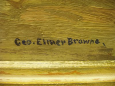 443: OIL ON PANEL SIGNED GEO. ELMER BROWNE - 3