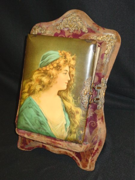 455: VICTORIAN PICTURE ALBUM ON STAND