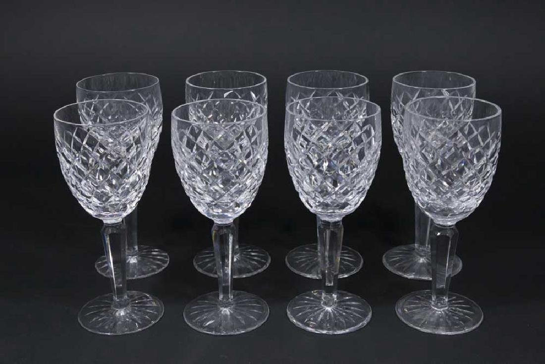 8 Cut Crystal Waterford Sherry Glasses