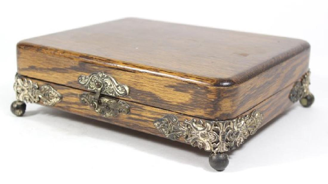 Oak Victorian Footed Box