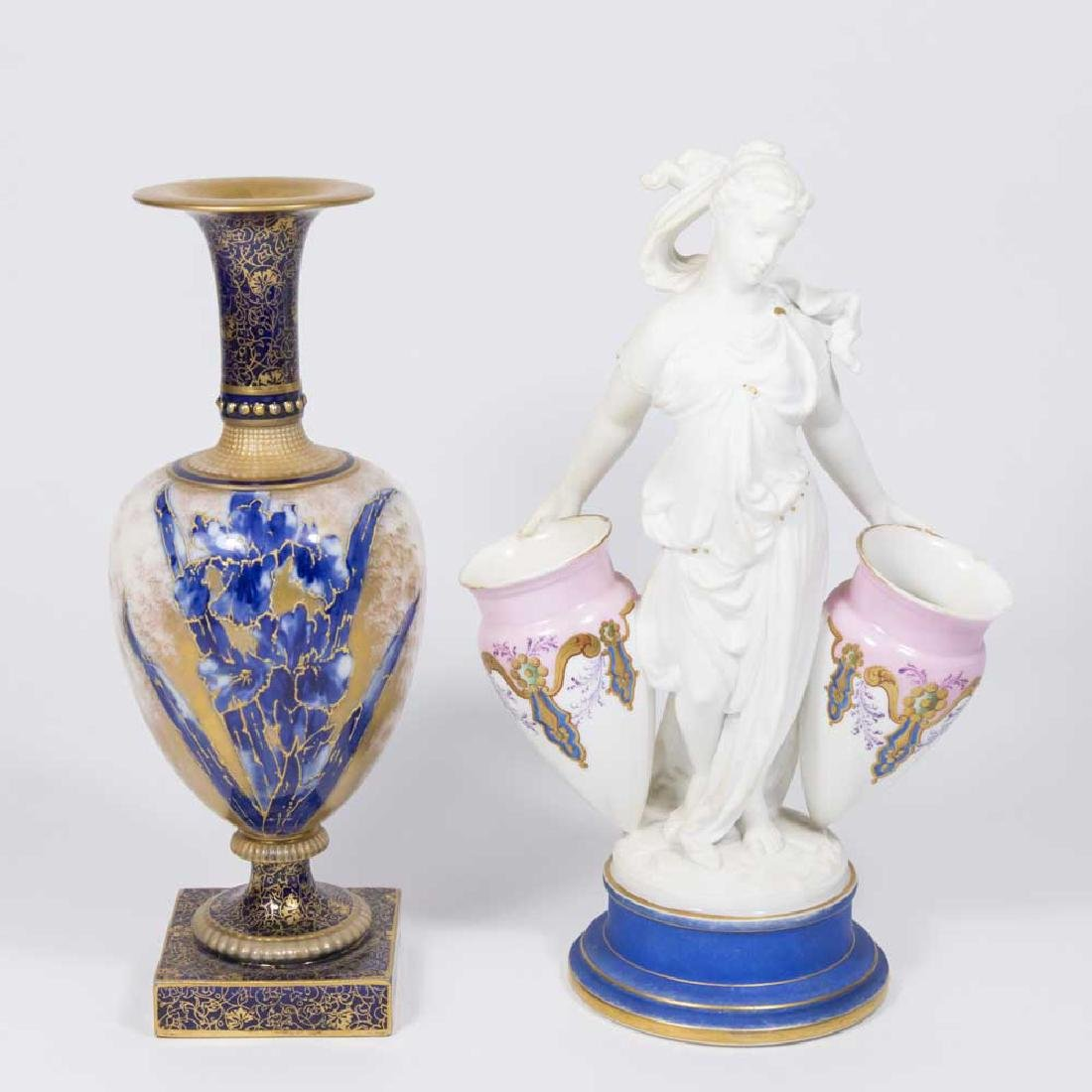 Doulton Handpainted Vase & Classical Woman