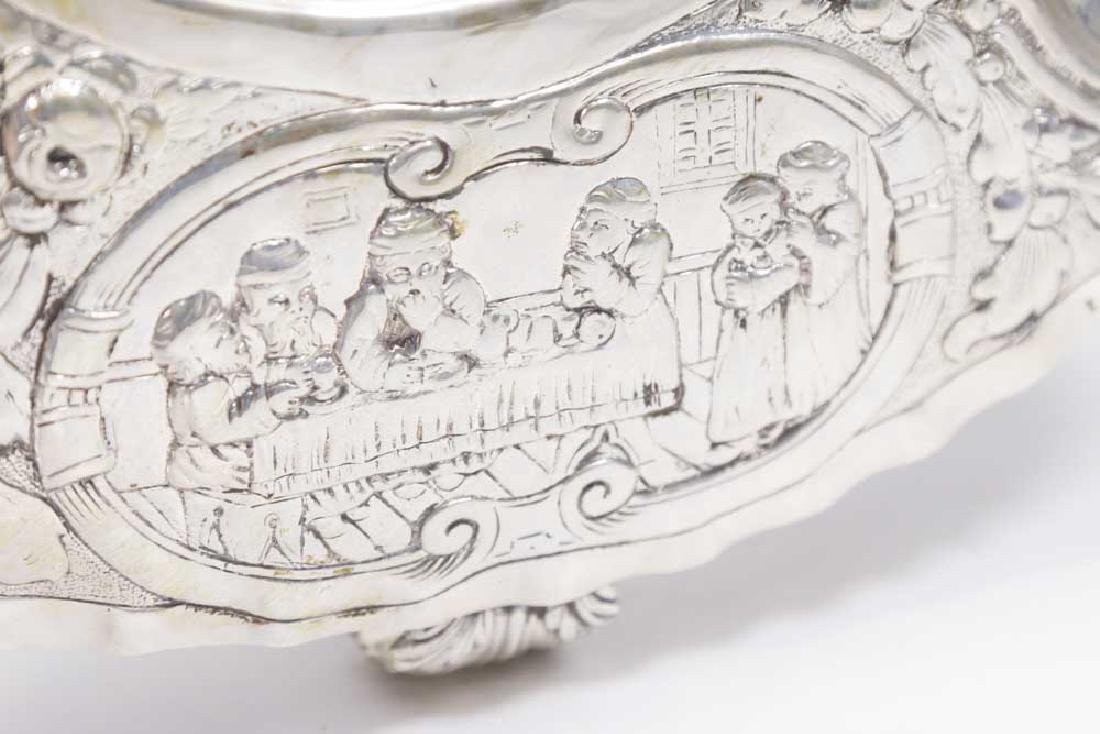 Continental Silver Seder Plate on Legs - 3