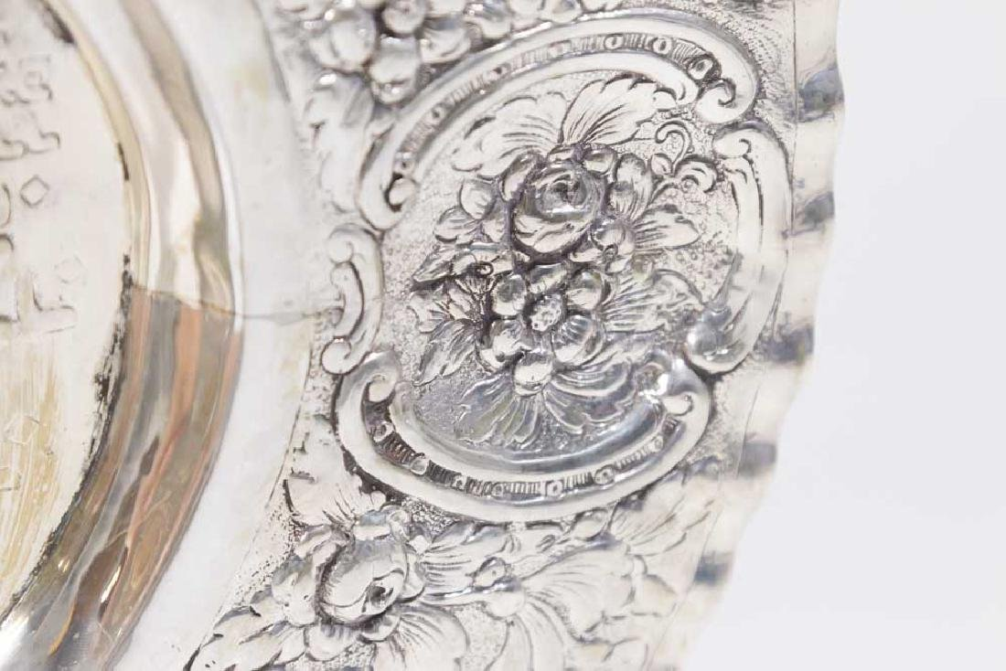 Continental Silver Seder Plate on Legs - 4