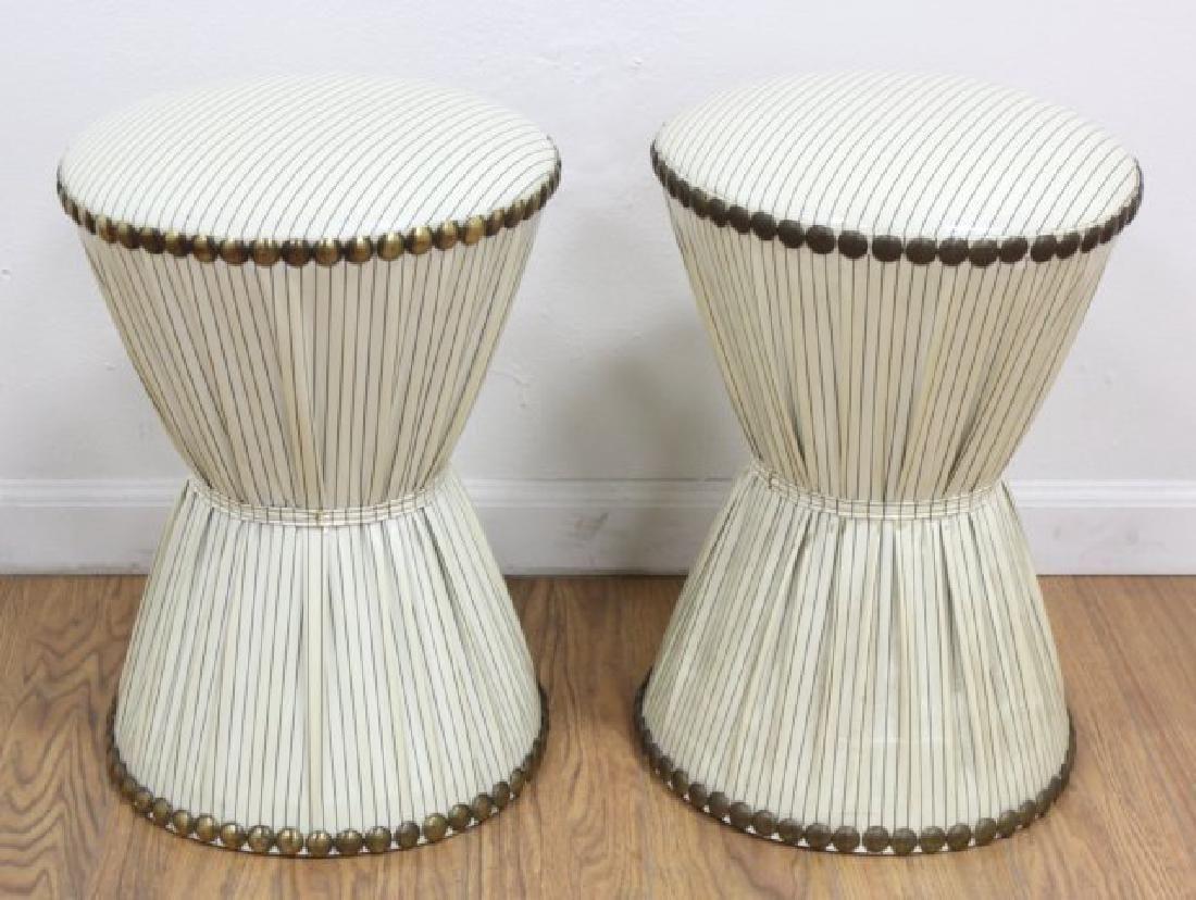 Pair 50s American Hourglass Stools
