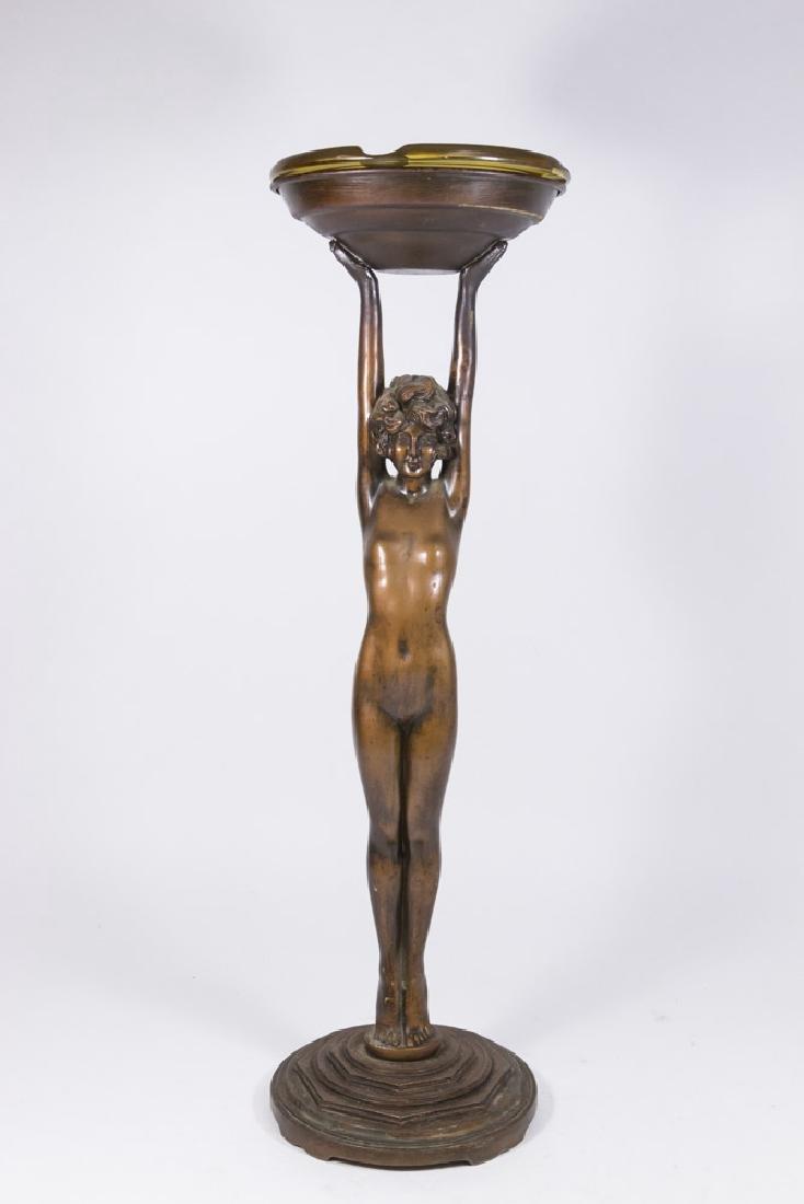 Nuart Art Deco Figural Ash Stand