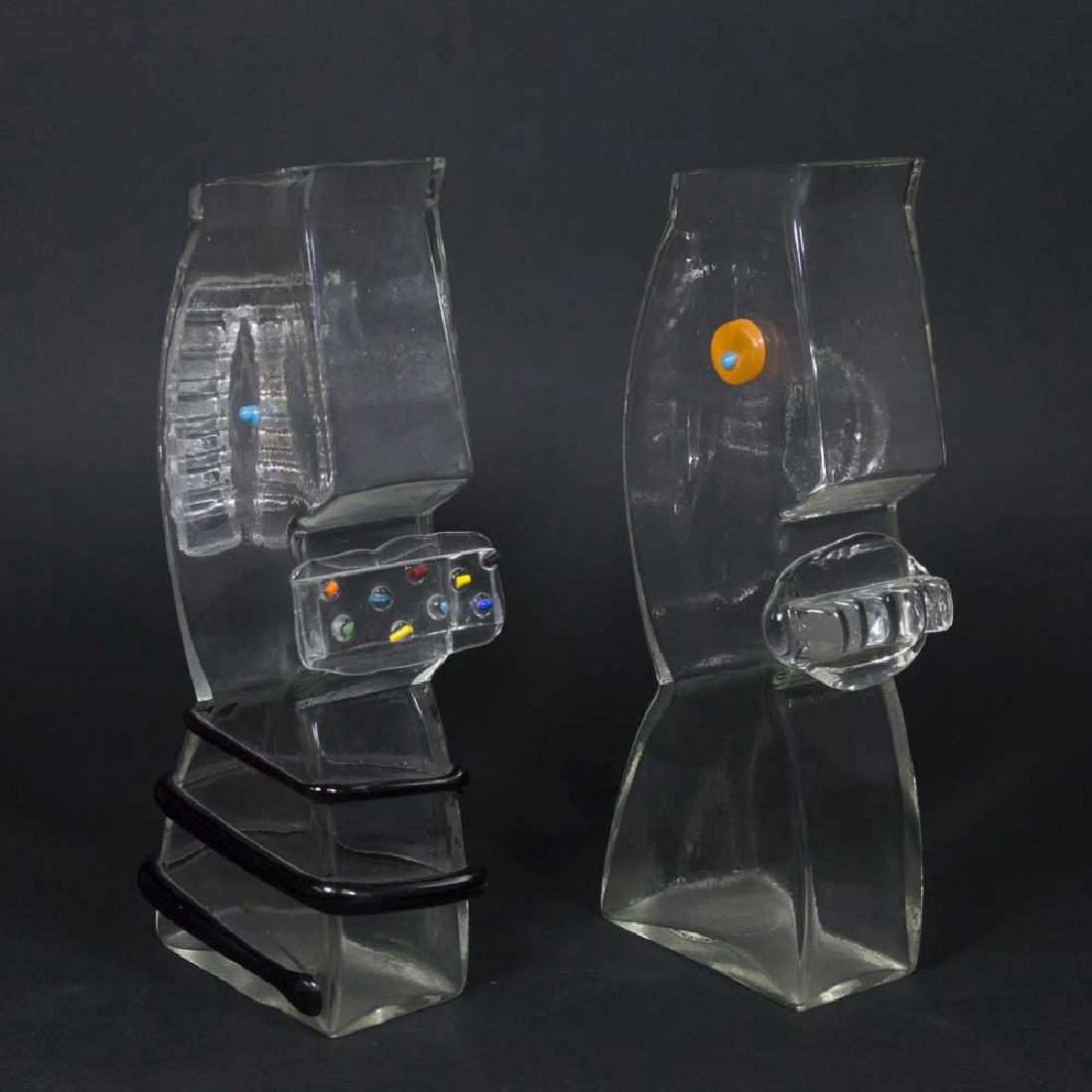 2 Augusta Studios Ibex Glass Vases