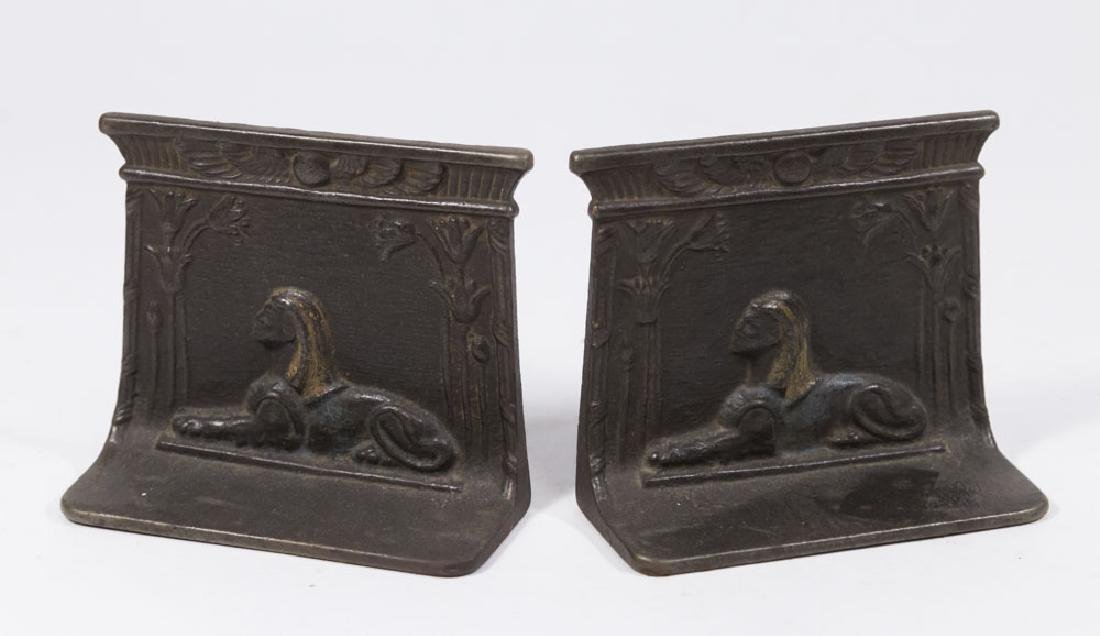 Sphinx Iron Bookends