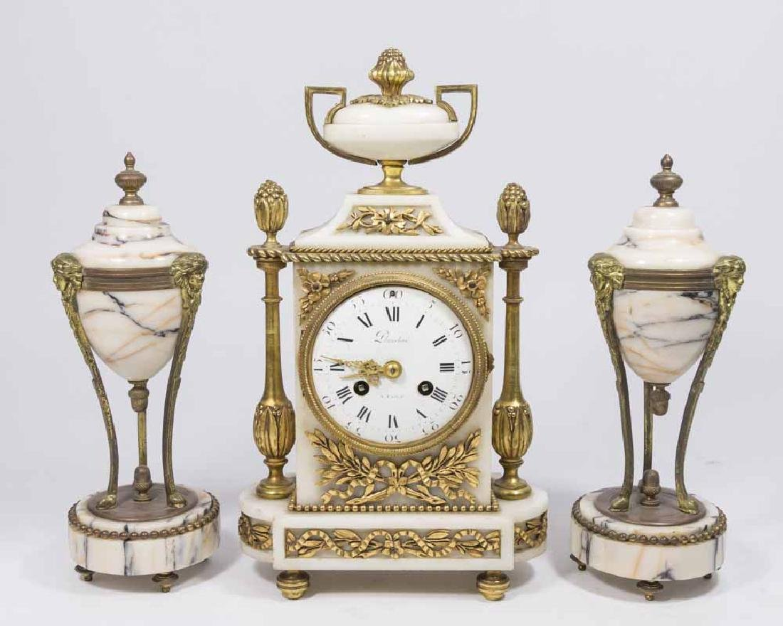 3 Piece 19th Century Clock Set
