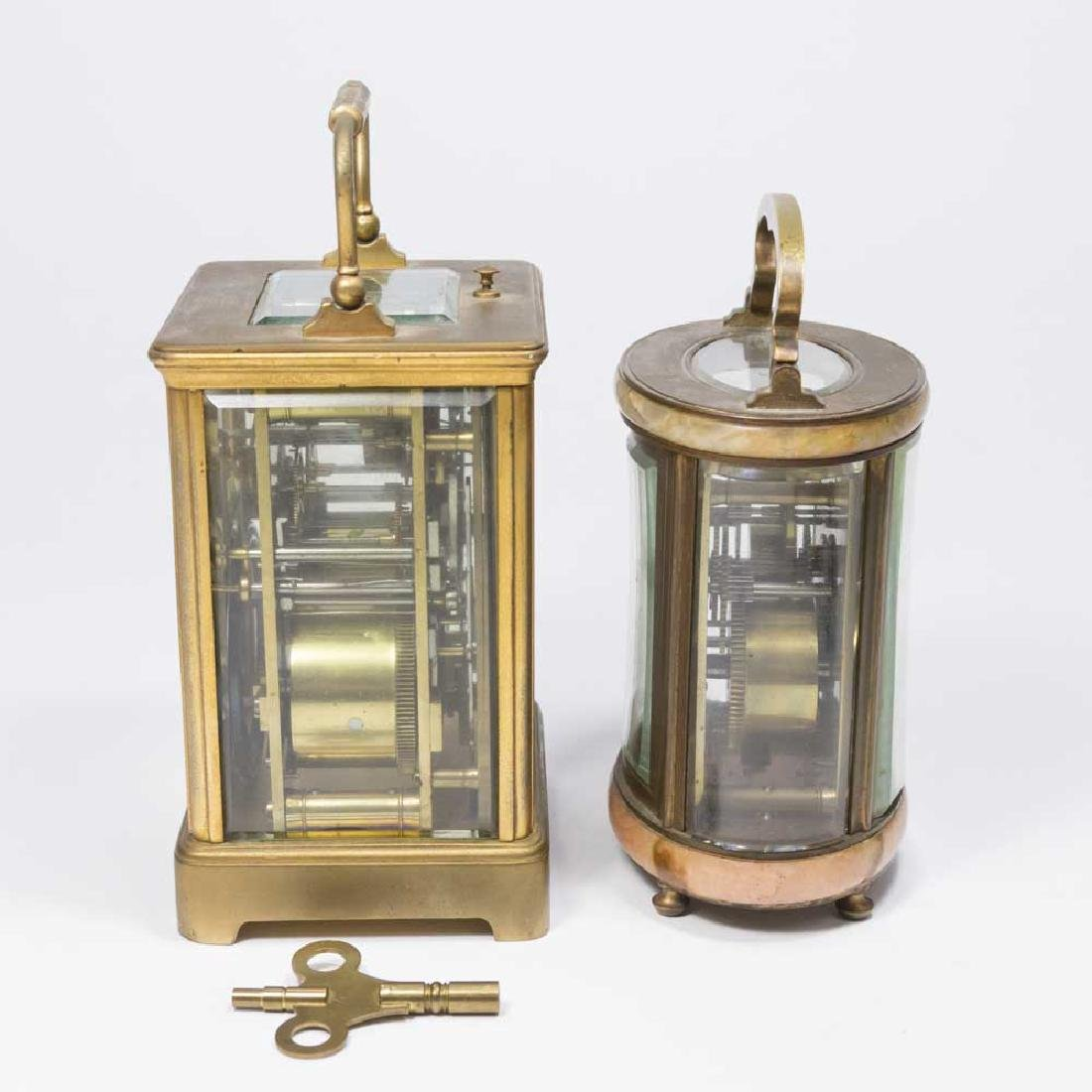 2 Carriage Clocks, Oval Caldwell & Other - 4