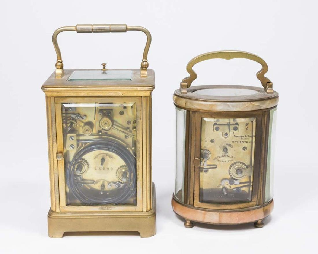 2 Carriage Clocks, Oval Caldwell & Other - 5