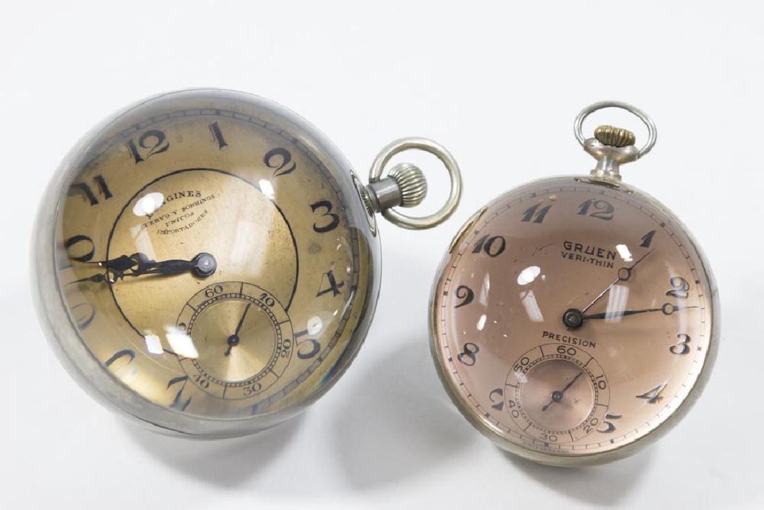 2 Crystal Ball Clocks, Gruen Verithin & Longines