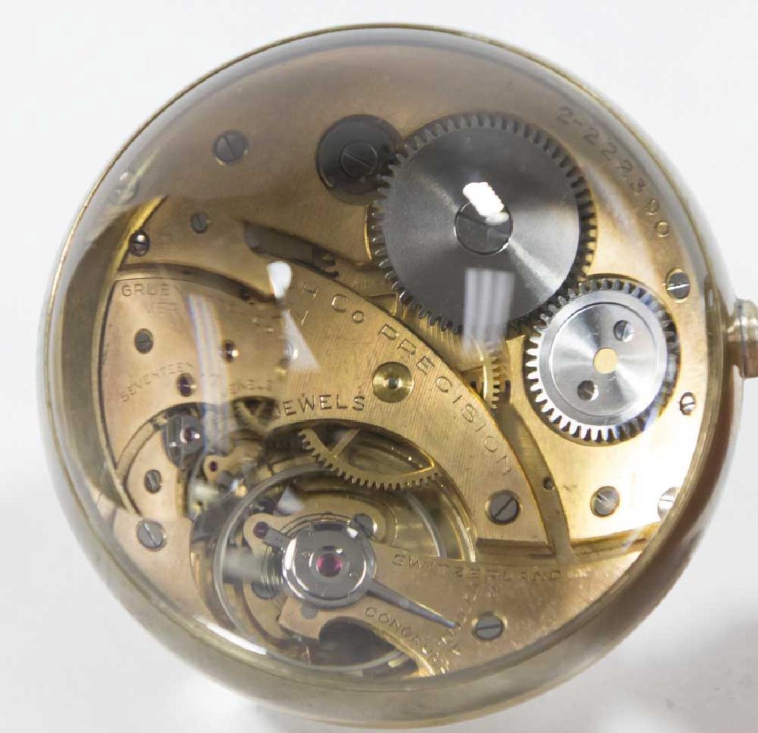 2 Crystal Ball Clocks, Gruen Verithin & Longines - 3