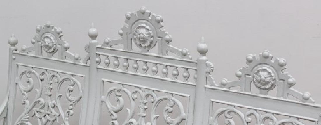 Victorian Wrought Iron Memorial Bench - 3