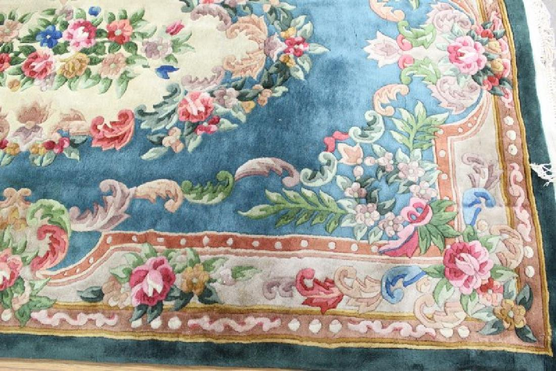 2 Green Chinese Sculpted Rugs/Carpets - 3