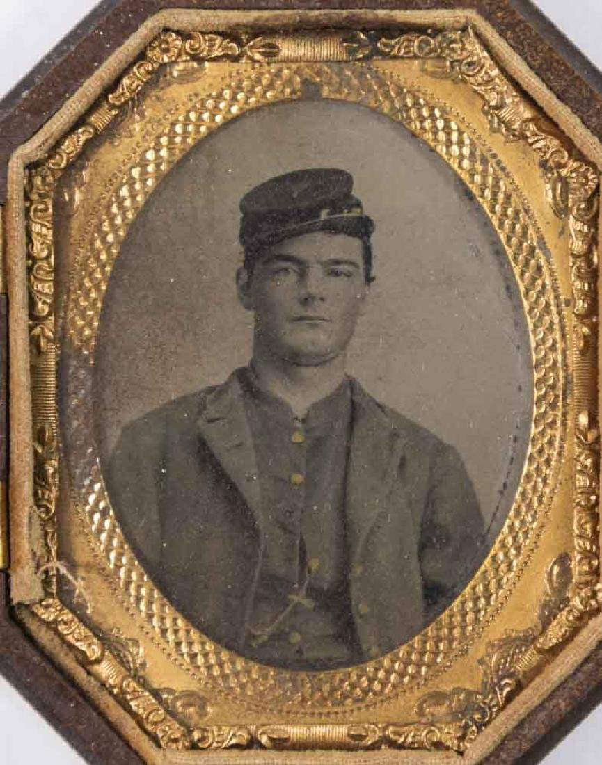 5 Civil War Daguerreotypes of Confederate Soldiers - 5