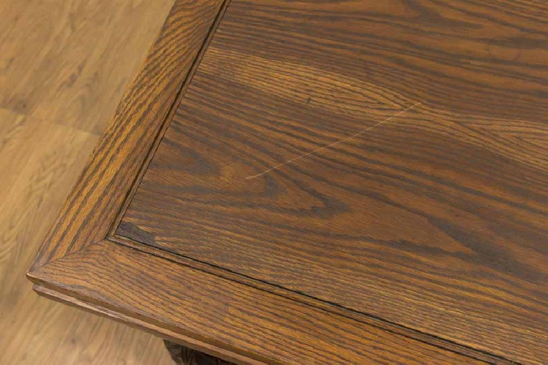 Vintage Carved Oak Refractory Dining Table - 2