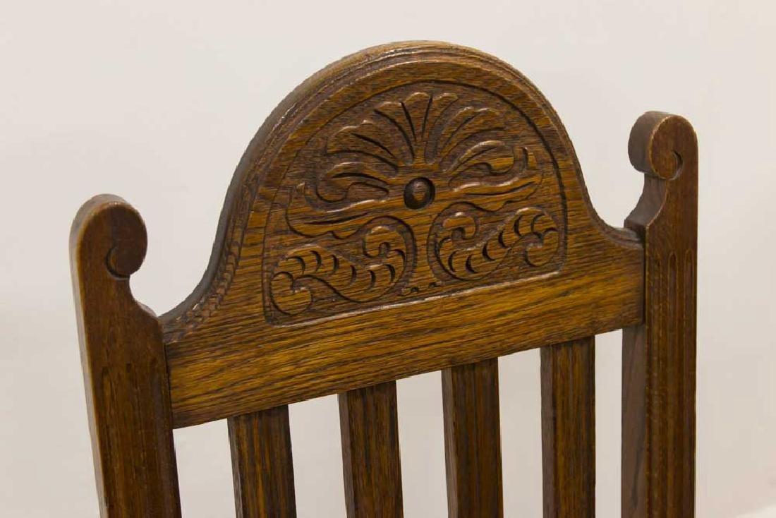Vintage Carved Oak Refractory Dining Table - 3
