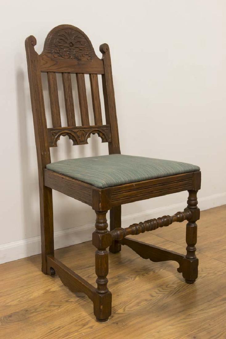 Vintage Carved Oak Refractory Dining Table - 4