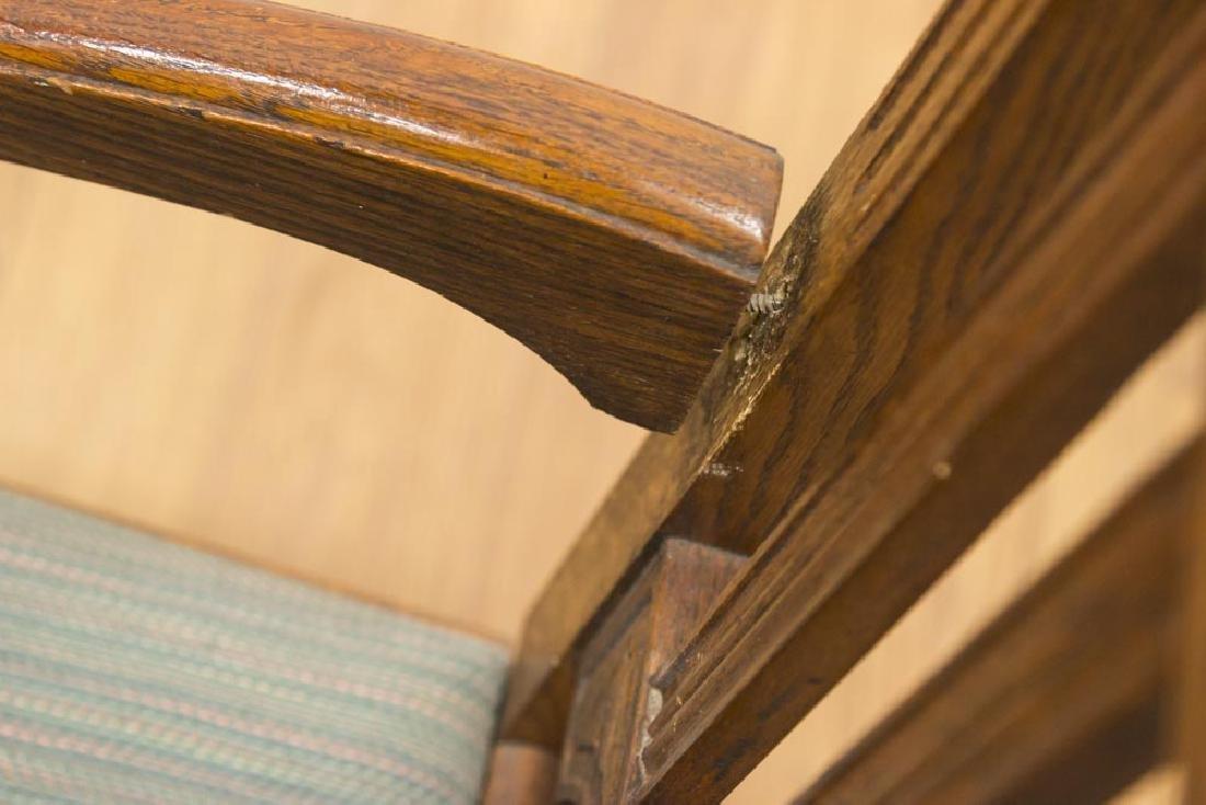 Vintage Carved Oak Refractory Dining Table - 6