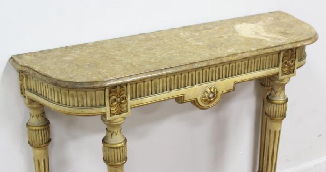 French Louis XVI Style Marble Top Console - 3
