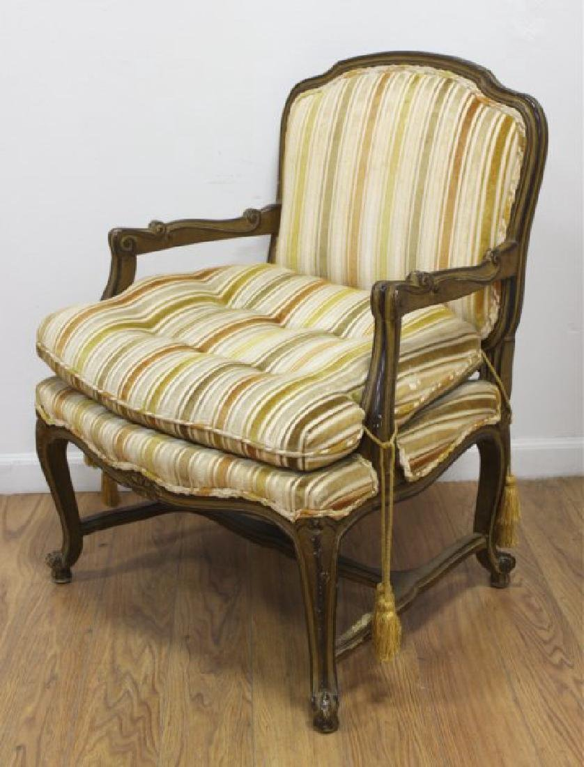 Pair French Open Armchairs - 2